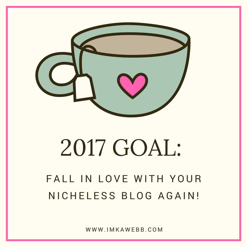 fall in love with your nicheless blog