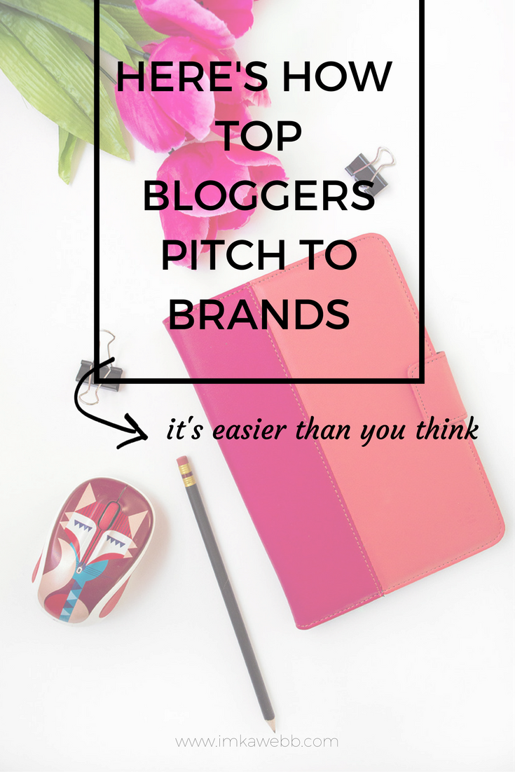 how top bloggers pitch to brands