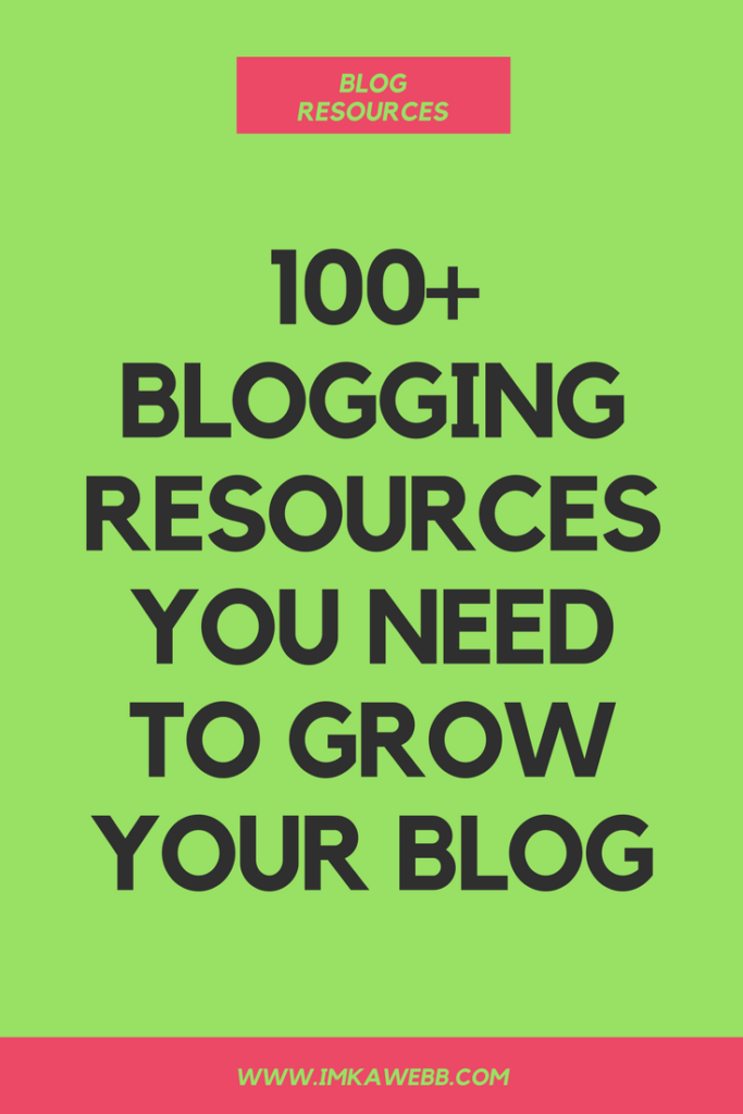 The Biggest List of Blog Resources