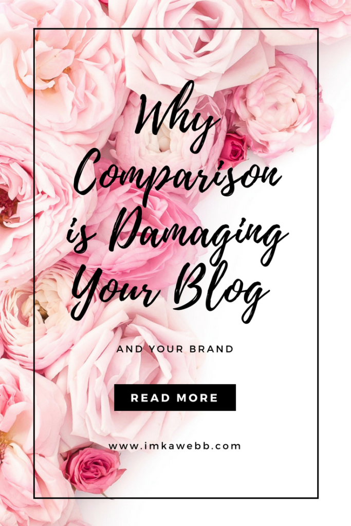 Here's why comparison is damaging your blog and your brand.