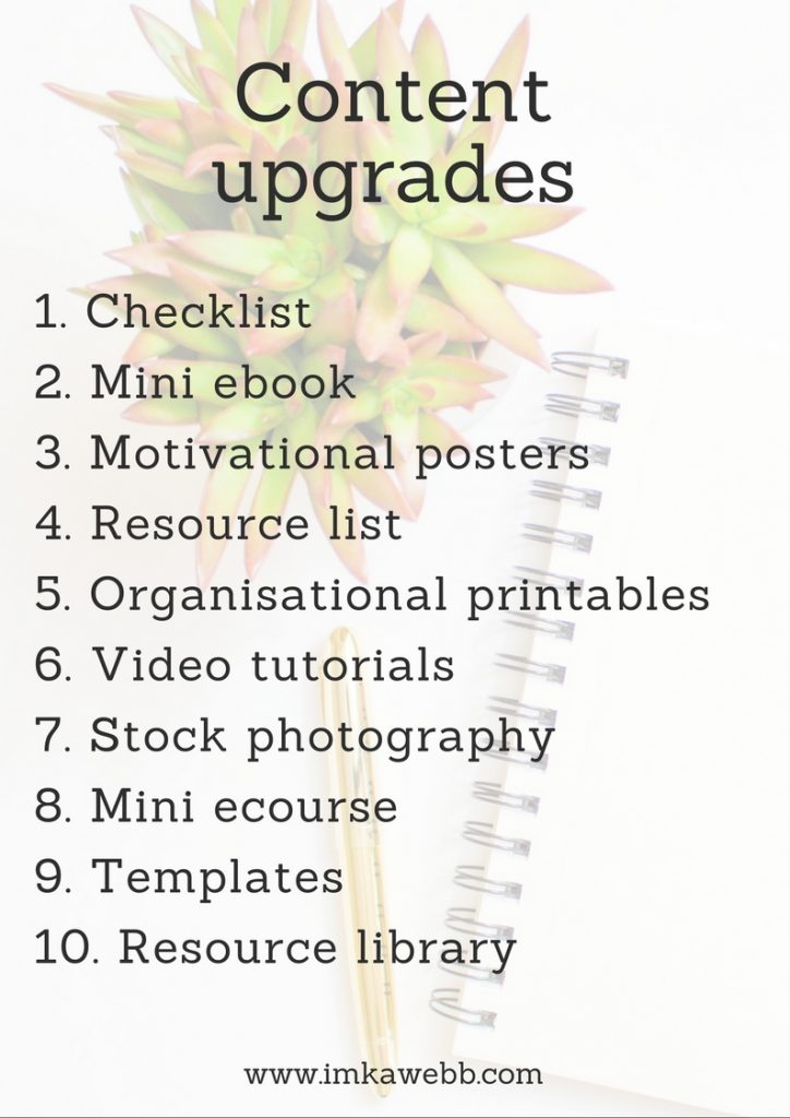 10 Content upgrades you can add to your blog posts