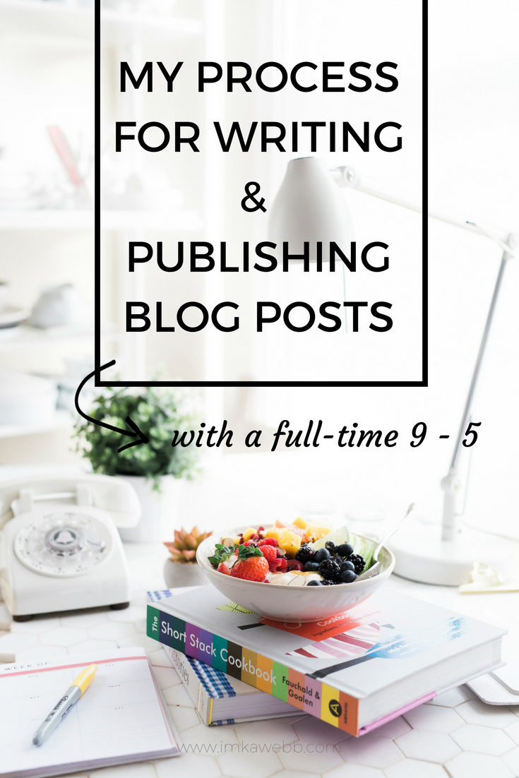 My process for planning, writing and publishing blog posts with a full time job